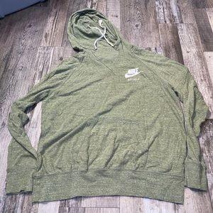 Nike green hoodie sweatshirt